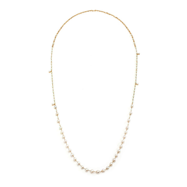 JULIET FRESHWATER PEARL AND CZ CONVERTIBLE NECKLACE