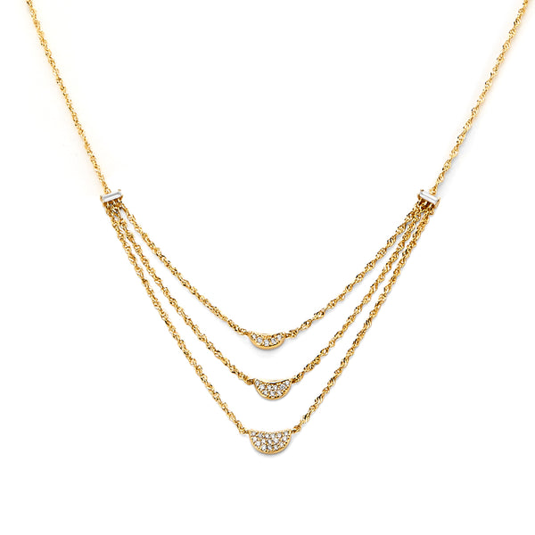 PHASE - DIAMOND FRONTAL LAYERED NECKLACE