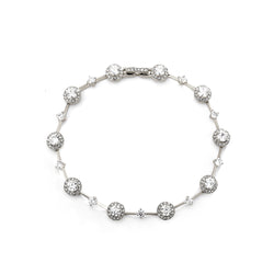 CZ BEZEL SINGLE LINE BRACELET