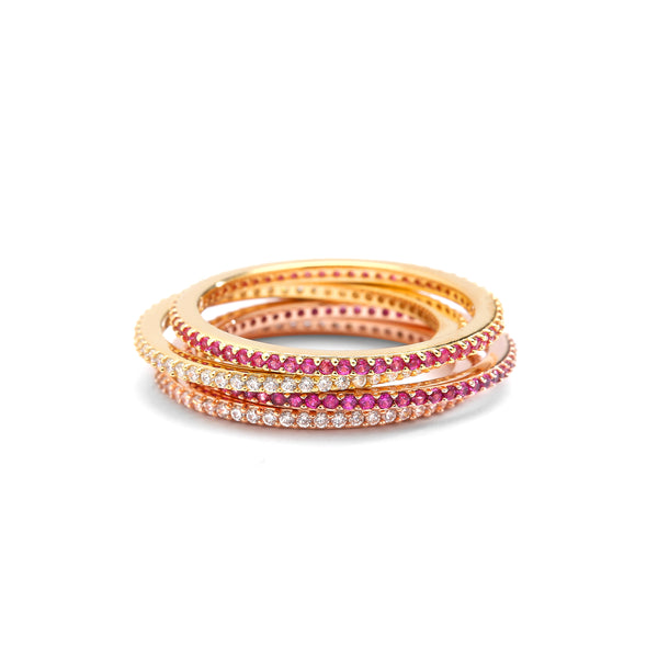 RUBY PAVE ETERNITY RING STACK