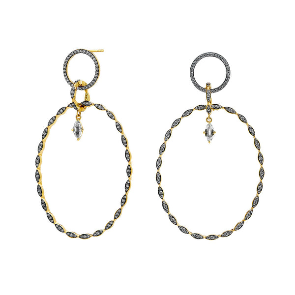 DRAMA FRONTAL HOOP EARRINGS