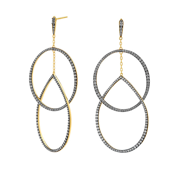 DRAMA INTERLOCK EARRINGS