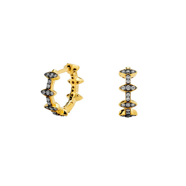 FERRARA PATTERN HUGGIE EARRINGS