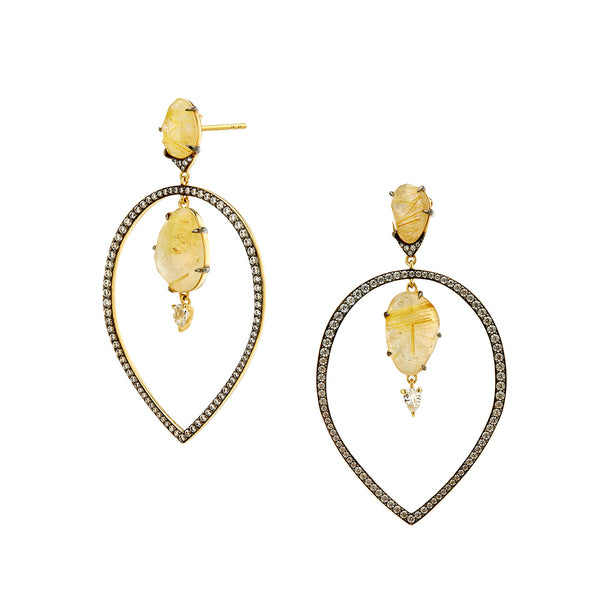RAVENNA FRONTAL HOOP EARRINGS
