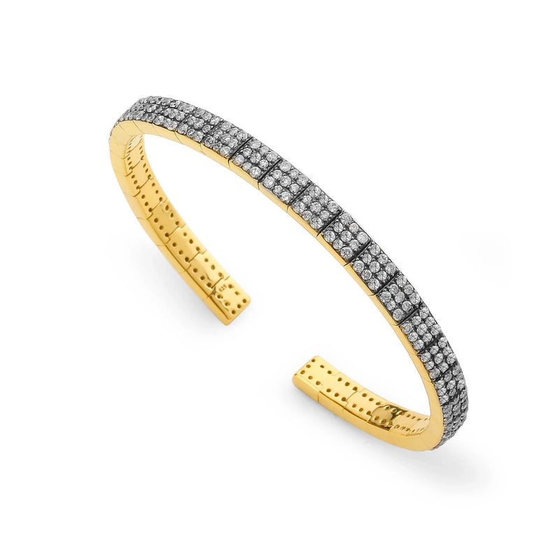 DIAMOND PAVE FLEXI CUFF