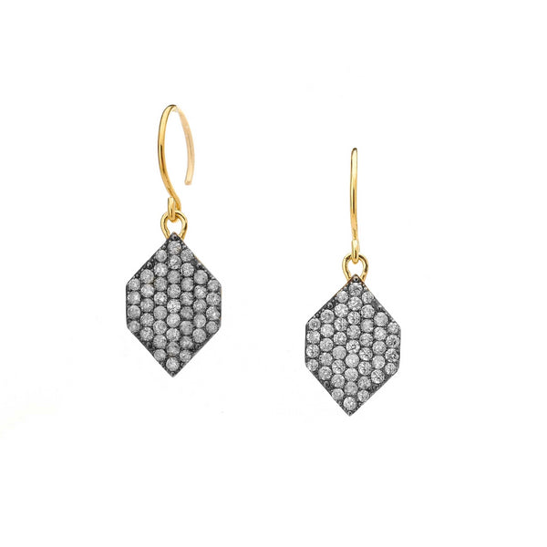DIAMOND PAVE SMALL DROP EARRINGS