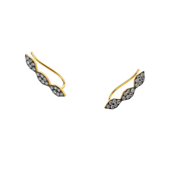 DIAMOND PAVE CLIMBER EARRINGS