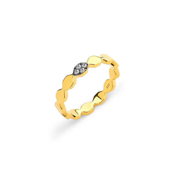 THIN DIAMOND PAVE PATTERN RING