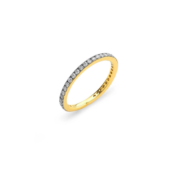 SINGLE ROW DIAMOND PAVE RING