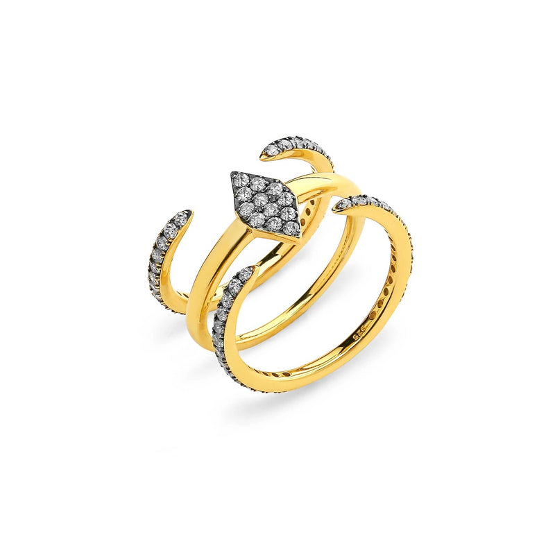 SET OF 3 DIAMOND PAVE RINGS