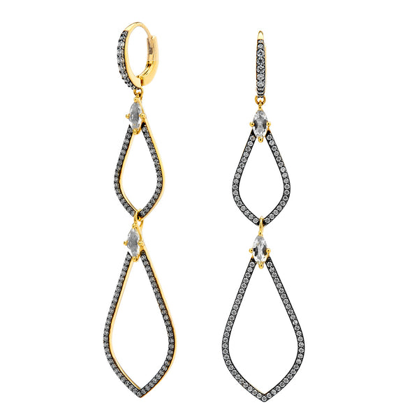 DRAMA DOUBLE TEARDROP EARRINGS