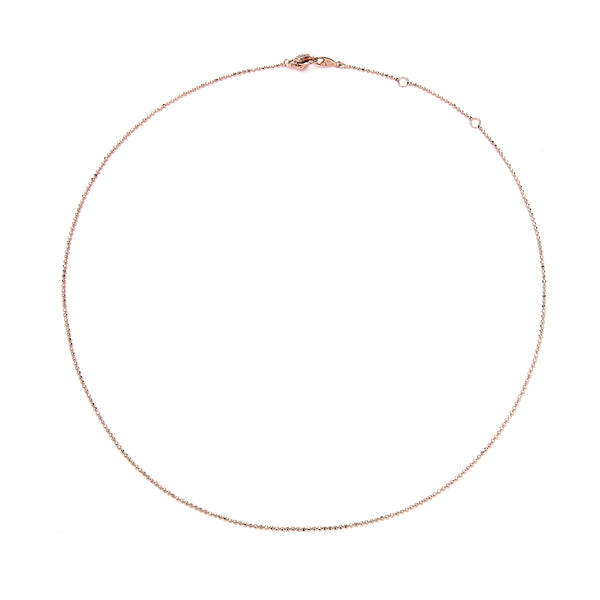 "1.2MM BEAD CHAIN 16"" NECKLACE"