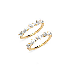 IVY WHITE TOPAZ SET OF 2 RINGS