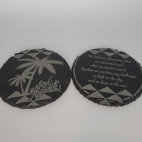 N8ive Slate Coaster Set 2(pc)