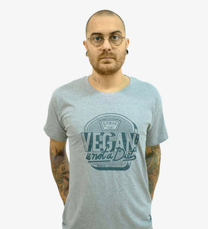 "CAMISETA UNISEX GRIS ""VEGANISM IS NOT A DIET"""