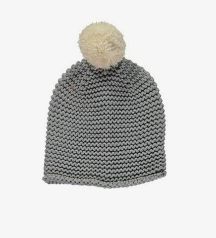 GORRO MISSPOMPOM STRIPE YELLOW