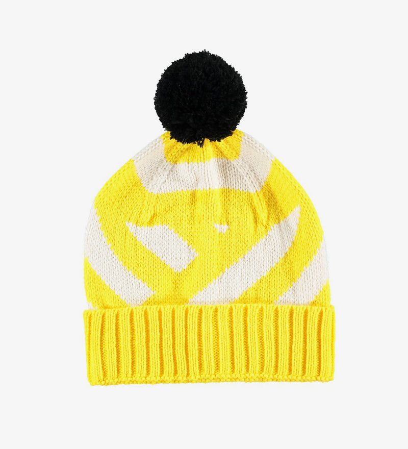 GORRO VEGANO MISSPOMPOM STRIPE YELLOW