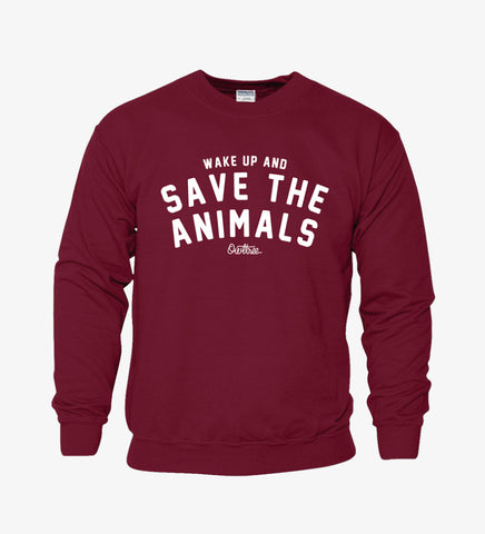 SUDADERA VEGANA OWLTREE SAVE THE ANIMALS