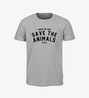 "CAMISETA UNISEX DE OWLTREE VEGAN APPAREL ""SAVE THE ANIMALS"""