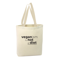 "Totebag de Amapola Vegan Shop ""veganism is not a diet"""