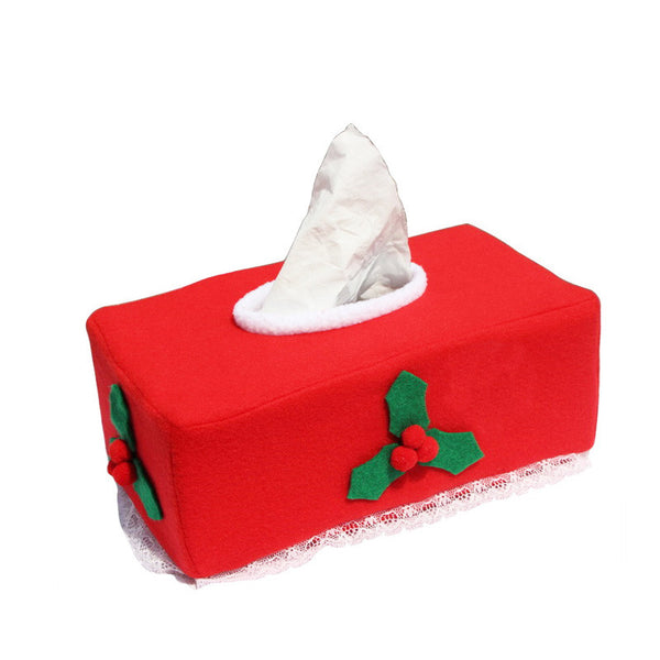 Christmas Decoration Tissue Box Cover