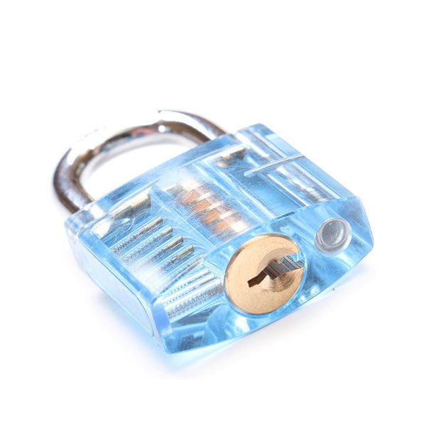 Transparent Practice Padlock Set