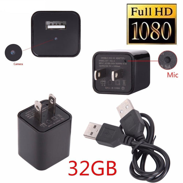 2017 USB AC Charger with WiFi Camera 1080p