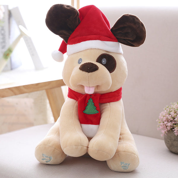 Peek-A-Boo Christmas Themed Stuffed Animals
