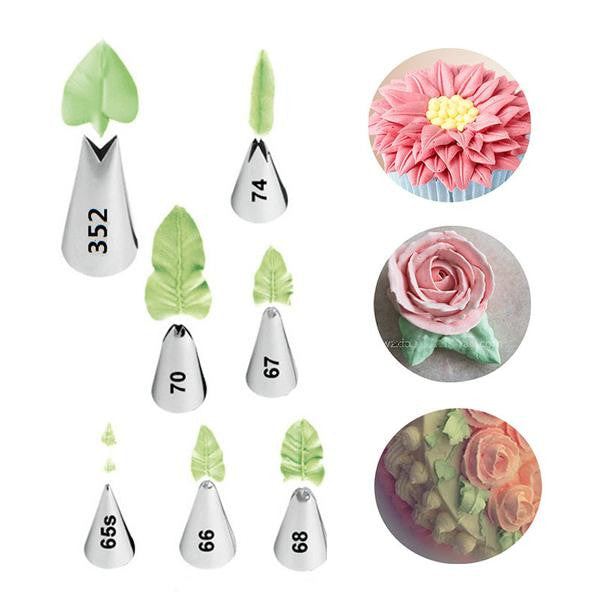 HappyFlyer Leaves Tips Set Icing Piping Nozzles