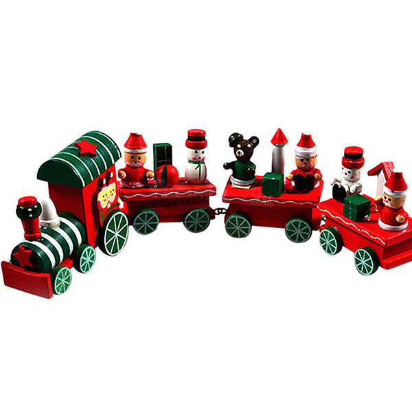 Wooden Christmas Decoration Xmas Train Decoration Decor Christmas Gifts Christmas Toys