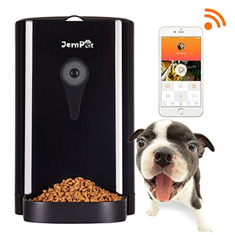 and timer feeder products phone automatic portion voice food pet jempet camera dogs control by dog recording cats with smart for programmable large hd smartfeeder video dispenser wifi auto controlled