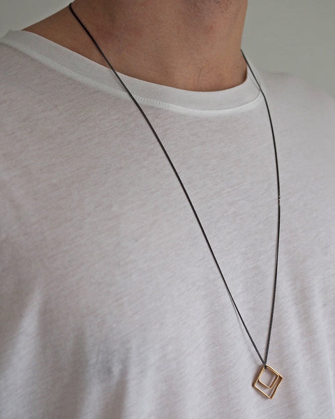 Brass Dörtgen Necklace