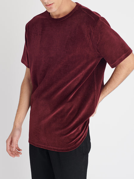 Bey Kadife T-shirt Bordo