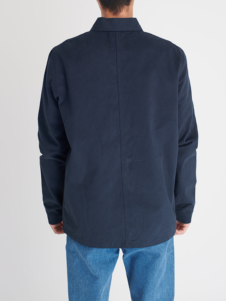 Bey Worker Jacket Koyu Mavi