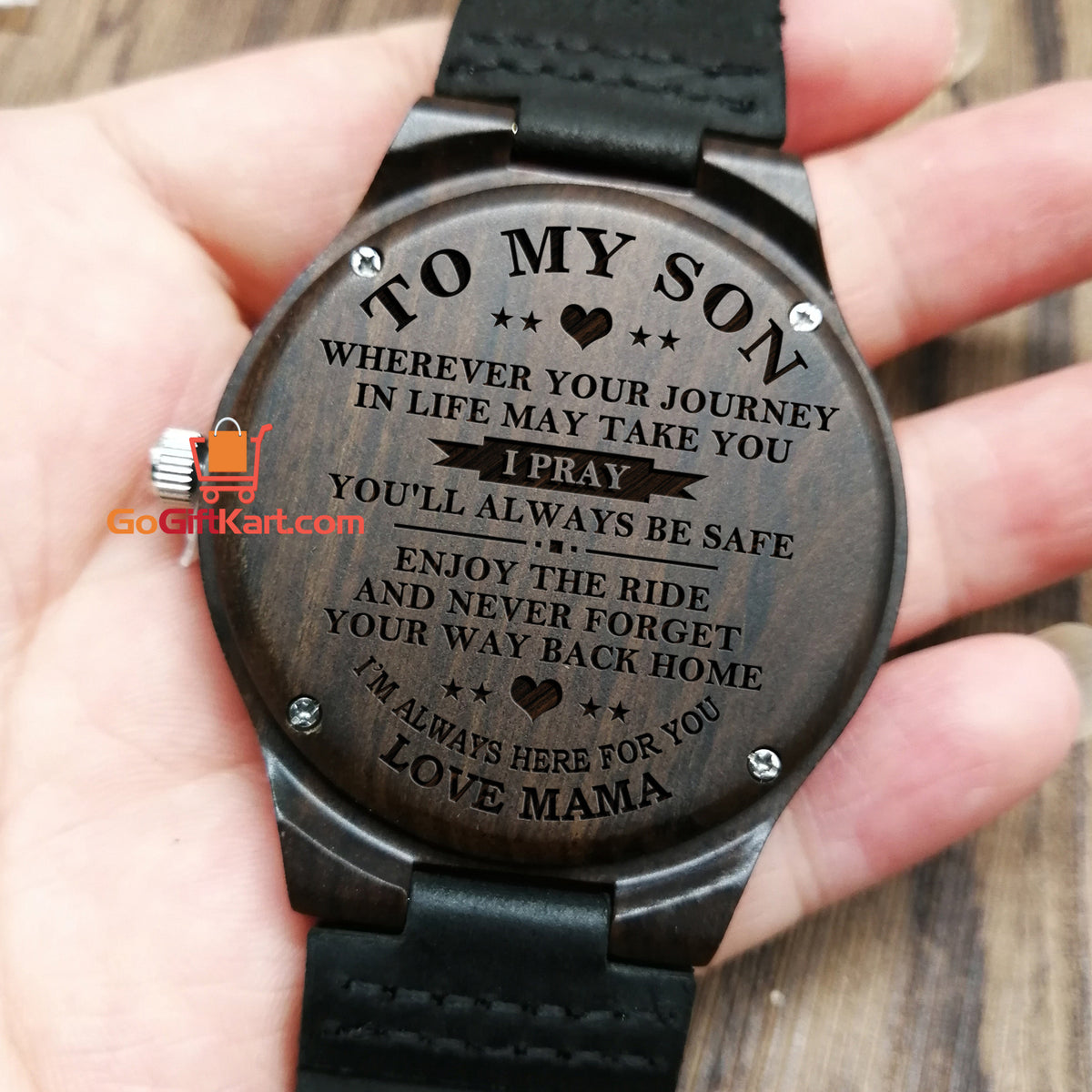 Son Mama Pray Wooden Watch