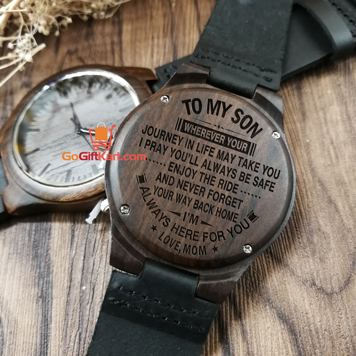 Son Mom Journey 2 Wooden Watch