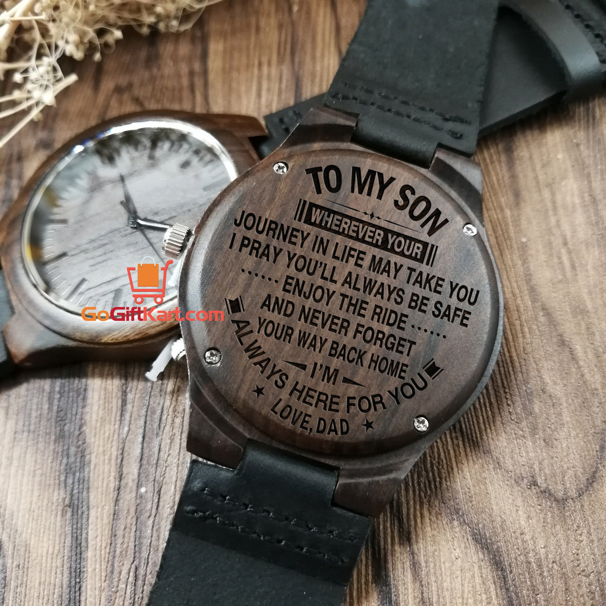 Son Dad Journey Wooden Watch