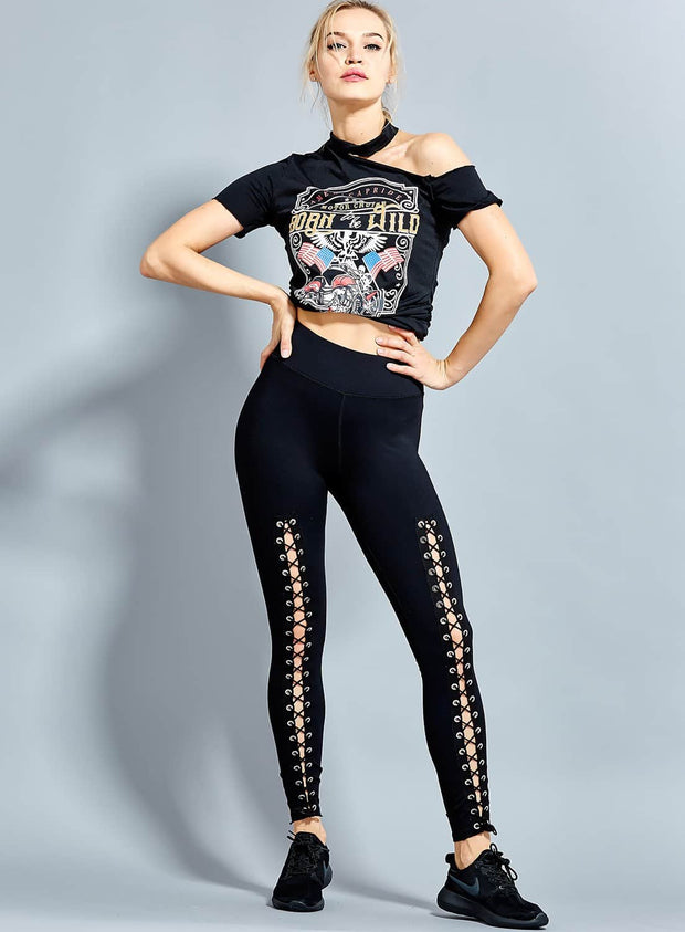 Front Long Leggings High Quality