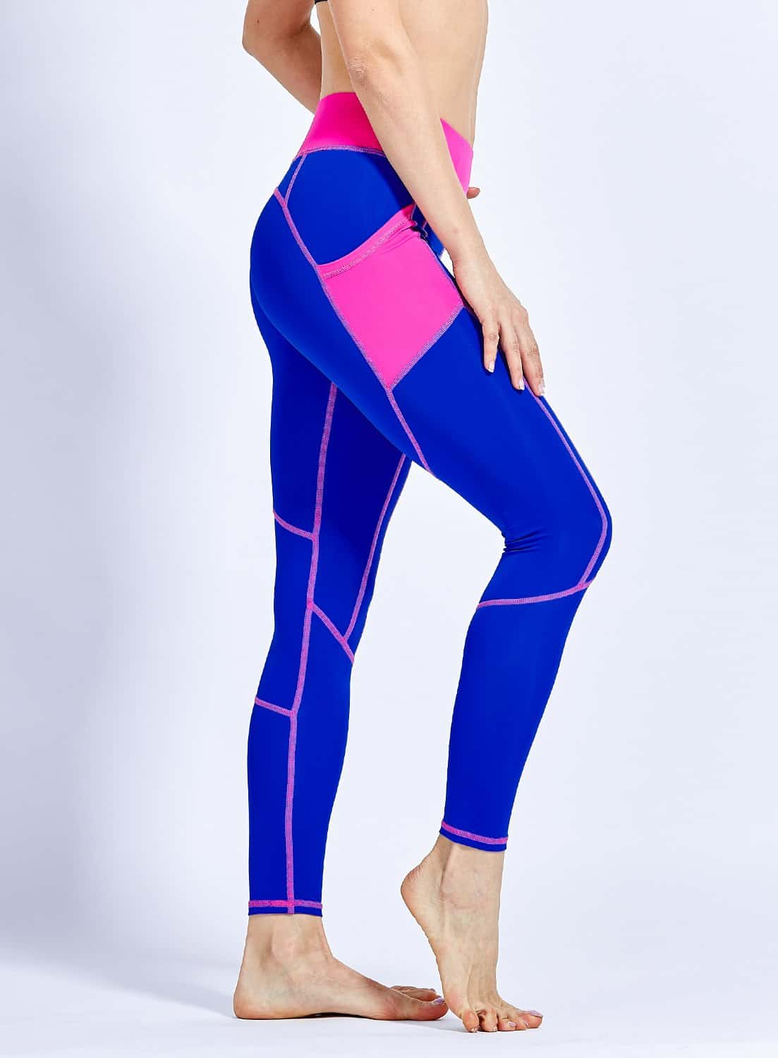 Front Pockets (Blue) Leggings High Quality