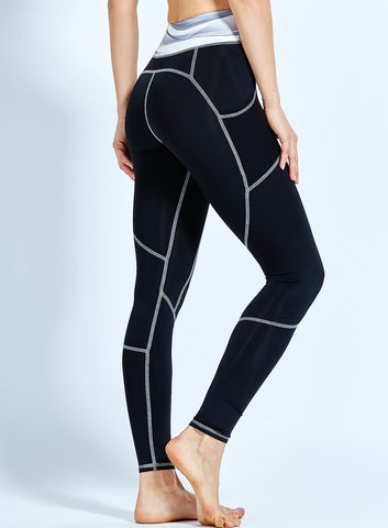 Front Pockets (Black) Leggings High Quality