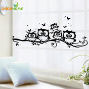 Black Owl Wall Stickers