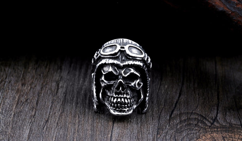 316L Stainless Steel High Quality Skull Ring