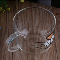 Cat Glass Coffee/Tea Cup