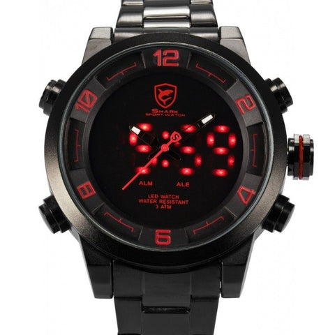 Digital Gulper Shark Sport Water Resistant Military Watch