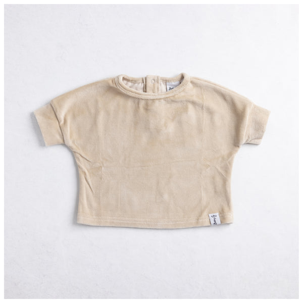 Boxy Ribbed Tee - White