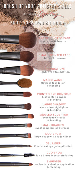 Build your own Brush Kit from our Brush guide - Save 15% on 3 or more Brushes & Brush Bag DISCOUNT CODE: BRUSH