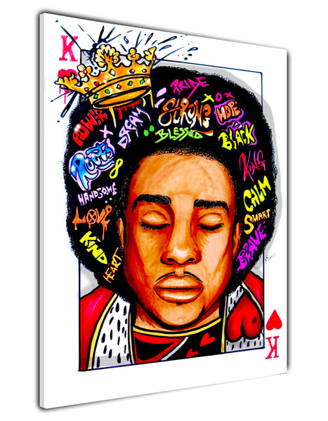 AFRO KING CANVAS PRINT
