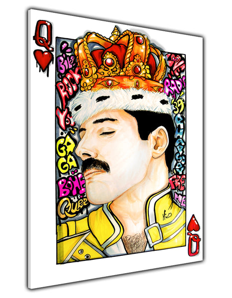 FREDDY MERCURY QUEEN OF HEARTS CANVAS PRINT