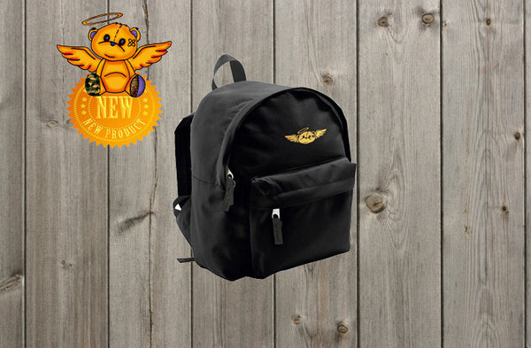 KIDS RIDER BACKPACK WITH GOLD BEAR LOGO