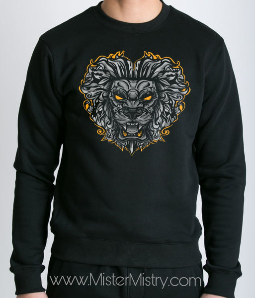 LION HEART BLACK JUMPER